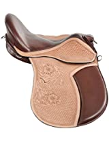 Raghav Horse Saddle- Multi color (RH007 _ 18 inches)