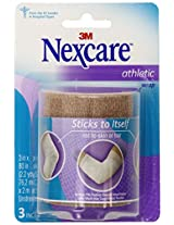 Nexcare Athletic Wrap, 3 Inch x 5-Yard Stretched, Tan Color, 1 Count