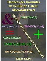 Données des Formules de Feuille de Calcul Microsoft Excel (French Edition)