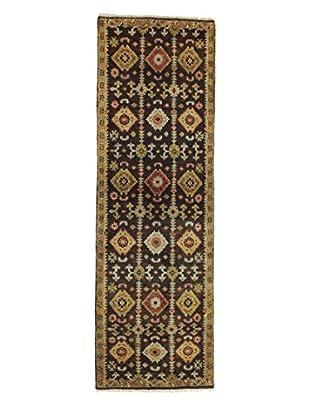 Bashian Rugs Hand-Knotted Indo Oushak Rug, Chocolate, 2' 6