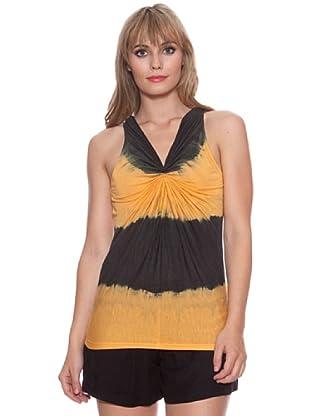 Santa Bárbara Camiseta Manchas (Naranja)