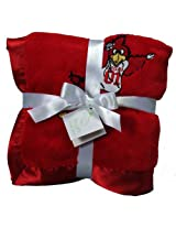 Pickles Embroidered Fleece Baby Blanket with Satin Trim - University South Carolina