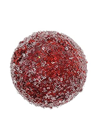 Winward Small Iced Glitter Ball, Red
