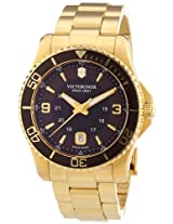 Victorinox Swiss Army Men's 241607 Maverick GS Gold/Brown Stainless Steel Watch