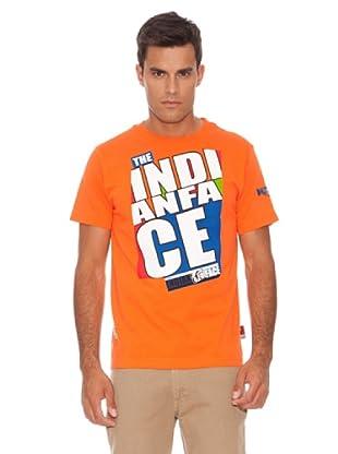The Indian Face Camiseta Manga Corta (Naranja)