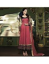 Candy Pink Cotton Silk Anarkali Suit