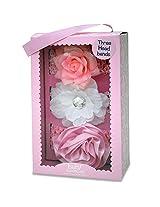 Baby Essentials Girls 3 Pack Headband - Pink Rose