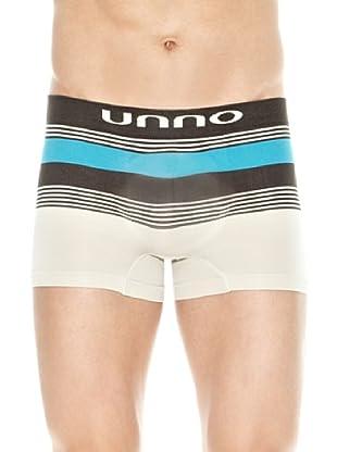 Unno Boxer Logo (Negro / Azul / Beige)