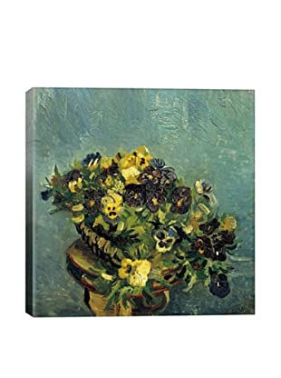 Vincent Van Gogh Basket of Pansies on the Table Giclée Canvas Print