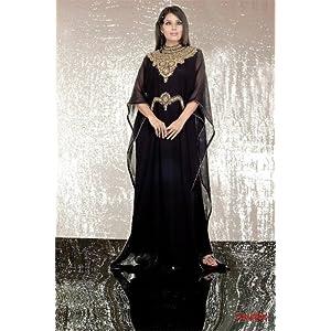 Bollywood Divas  Handwork Abaya Burqa - Black