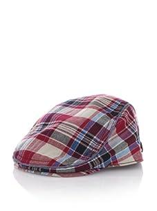 Ben Sherman Men's Madras Driver Hat (Red)