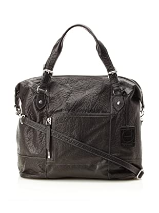 OH by Joy Gryson Women's Unzipped Front Pocket Satchel (Black)