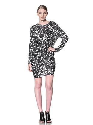 THAKOON CARBON COPY Women's Short Draped Front Dress (Black/White)