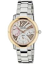 Seiko Criteria Chronograph White Dial Women's Watch - SNT880P1