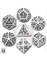 Steampunk Dice White/Black (7 Stk.) Board Game