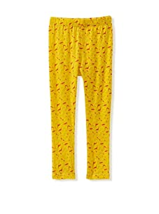 A for Apple Ren Leggings with Apple Peel Print (Yellow)