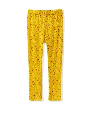A for Apple Ren Leggings with Apple Peel Print (Yellow)