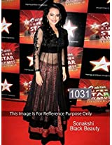Sonakshi Black Beauty Awesome Designer Gown