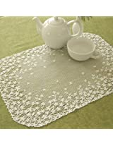 Blossom Placemat [Set of 4] Color: Ecru