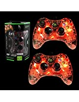 Pdp 2 Packs Xbox 360 Controller Wired Microsoft Afterglow Red