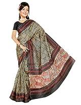 Somya Women Silk Saree (075Bnrdno4 _Beige _Free Size)