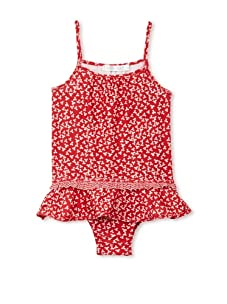 TroiZenfantS Girl's Skirted Swimsuit (Red)