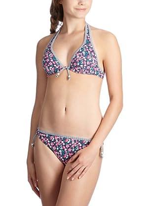 ESPRIT Bodywear Damen Bikini, geblümt Z3856/BALBOA BEACH (Blau (DG))