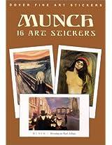 Munch: 16 Art Stickers (Dover Fine Art Stickers)