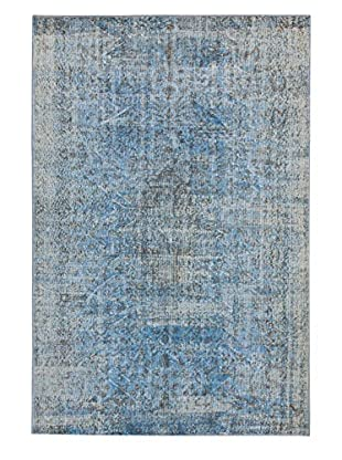 eCarpet Gallery One-of-a-Kind Hand-Knotted Color Transition Rug, Light Blue, 5' 11
