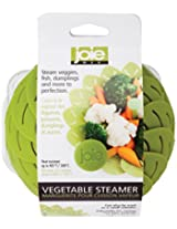 Joie Adjustable Non-Scratch Vegetable Steamer Basket Insert, Collapsible, Expands to 10-inch