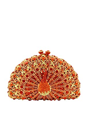 Ciel Collectables Bejeweled Peacock Handbag, Gold and Red