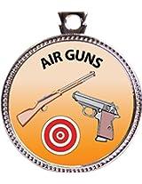 "Keepsake Awards Air Guns Silver Award Disk ""Recreation Collection"" 1 inch dia"