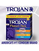 Trojan Condom Pleasure Pack Lubricated, 40 Count