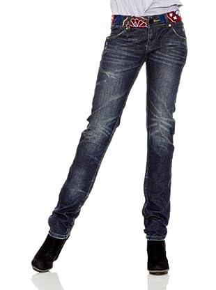 Desigual Vaquero Marca (Jeans Oscuro)