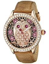 Betsey Johnson Women's BJ00517-05 Analog Display Quartz Brown Watch