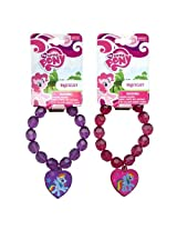 WeGlow International My Little Pony Assorted Faceted Beaded Bracelet with Plastic Charm (Set of 3)
