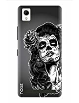 Noise Lady In Deadly Survivor Printed Cover for Intex Aqua Power Plus