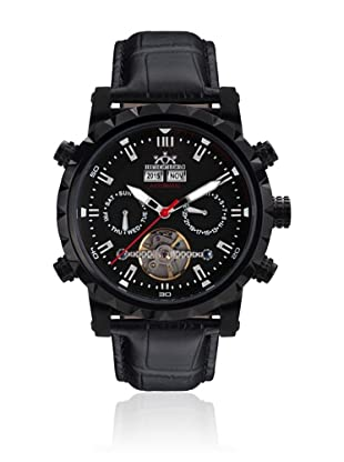 Hindenberg Reloj automático Man 370-H Expeditor PVD Negro 43.0 mm