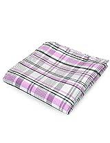 PenSee 100% Silk Woven Geometric Pink & White & Black Pocket Square