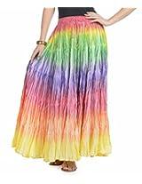 Soundarya Women Cotton Multicolor Long Skirt