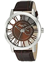 Kenneth Cole Transparency Analog Brown Dial Men's Watch - 10020811