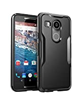 Nexus 5X Case, SUPCASE Google Nexus 5X Case Cover (2015 Release) Unicorn Beetle Series Premium **Slim** Hybrid Protective Case / Bumper (Black/Black)