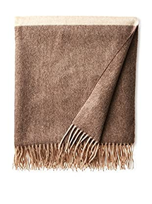 Amicale Wide Stripe Cashmere Throw, Beige/Tan