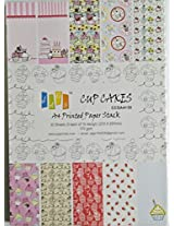 Scrapbook and Craft Paper Pack - Cupcakes (Size A4) 10 Designs 30 Sheets For Card & Scrapbooking