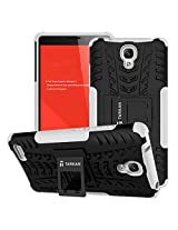 TARKAN Hard Armor Hybrid Rubber Bumper Flip Stand Rugged Back Case Cover For Xiaomi Redmi Note 3G/4G [White]