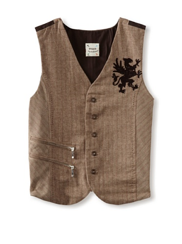 Fore!! Axel and Hudson Boy's Herringbone Tweed Vest with Zipper (Griffin)