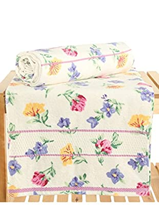 Maisonette Izabel 2-Piece Bath Towel Set, Pink
