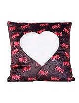 Selfie black color Square Love Cushion