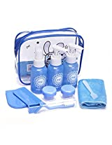 Foli Multipurpose Toiletries Travel Kit With Plastic Carry Pouch (Colors may vary)