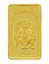 TBZ - The Original 10 gm, 24k(999) Yellow Gold Ganesh Precious Coin